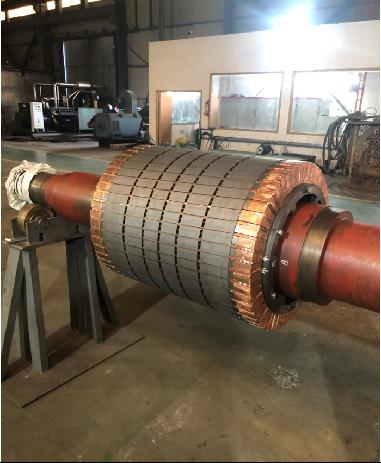 福建宝钢德盛钢厂2400KW2极电机定子设计制造