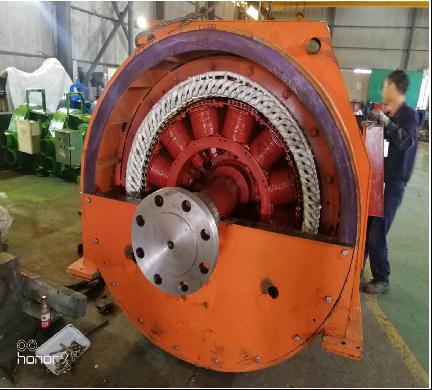 宁波中策集团有限公司1000Kw12极同步发电机设计制造