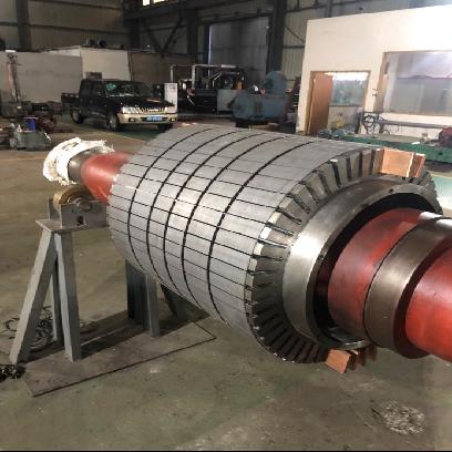 福建宝钢德盛钢厂2400KW2极电机转子设计制造